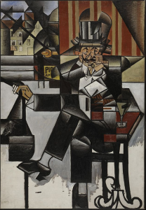 Juan Gris, 1913, Man in a Café