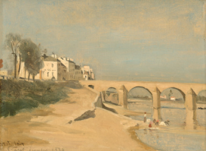 Camille Corot, Scene on the Saone River at Macon, 1834