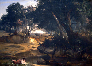 Camille Corot, View of the Forest of Fontainebleau, 1830