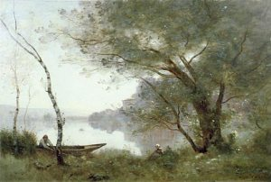 Camile Corot, Boatman of Mortefontaine, 1865-70