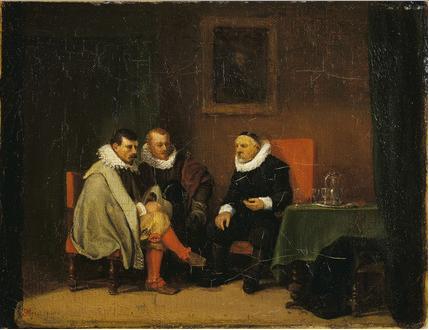 Ernest Meissonier, Flemish Burghers, 1833-4