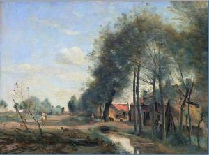 Camille Corot, The Sin-le-Noble Road near Douai, 1873