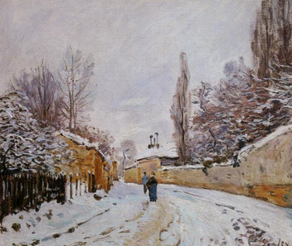 Alfred Sisley, Road Under Snow, Louveciennes, 1878