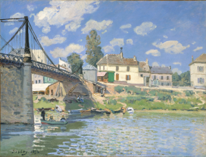 Alfed Sisley, The Bridge at Villeneuve-la-Garenne, 1872