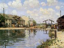 Alfred Sisley, The Canal Saint Martin, 1872