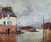 Alfred Sisley, Flood at Port-Marly, 1876