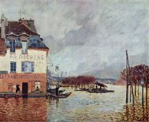 Alfred Sisley, Flood at Port-Marly, 1876