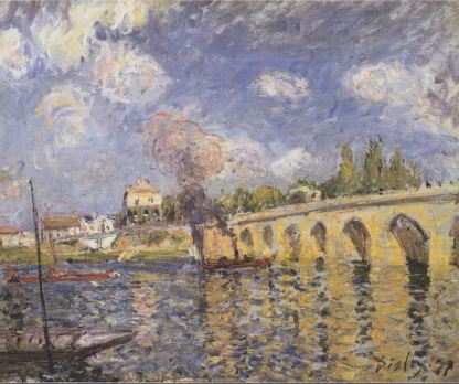 Alfred Sisley, River Steamboat and Bridge, 1871