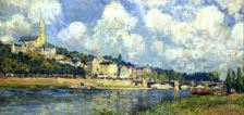 Alfred Sisley, The River at Saint Cloud 1870s