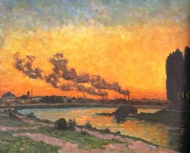 Armand Guillaumin 1841–1927 Sunset at Ivry 1873