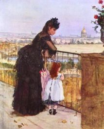 Berthe Morisot On the Balcony 1872