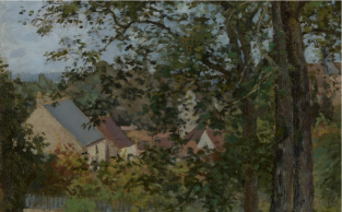 Camille Pissarro, Houses at Bougival, Autumn, 1870