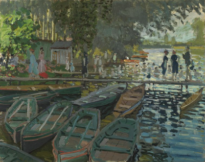 Claude Monet, Bathers at La Grenouillère, 1869