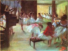 Edgar Degas, Dance Class (Ècole de danse), 1873