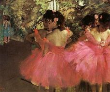 Edgar Degas, Dancers in pink, 1876