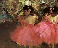 Edgar Degas, Dancers in pink, 1876