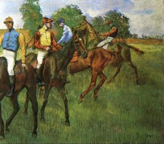 Edgar Degas, Race Horses, 1883-85