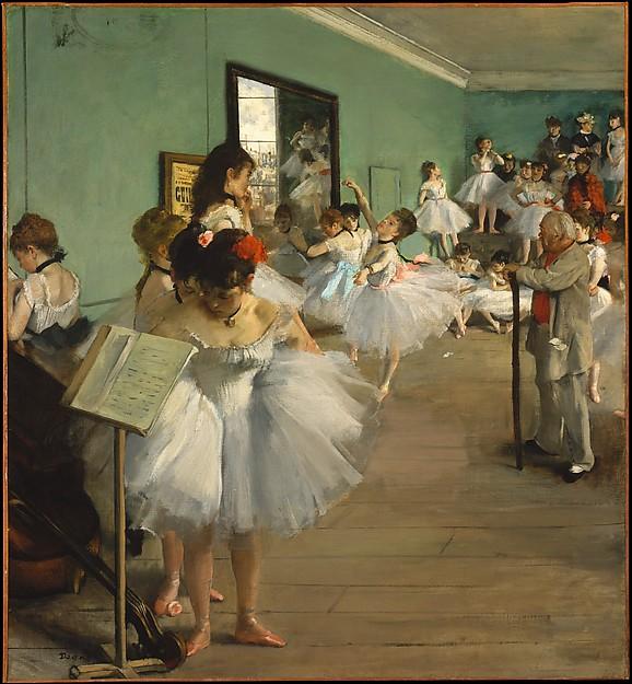impressionism edgar degas la classe de danse 1874