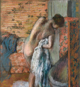 Edgar Degas, Woman Drying Herself after the Bath, c 1882 - 1885