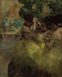 Edgar Degas,Yellow Dancers (In the Wings), 1874-1876