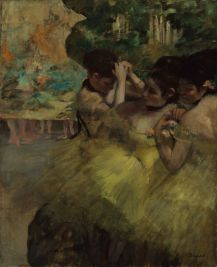 Edgar Degas,Yellow Dancers (In the Wings), 1874-1876