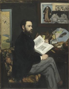 Edouard Manet, Portrait of Emile Zola, 1868.