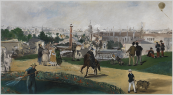 Edouard Manet, View of the 1867 Universal Exposition (unfinished study)