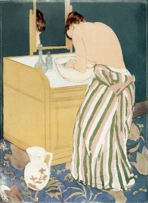 Mary Cassatt, Woman Bathing  c.1890–91