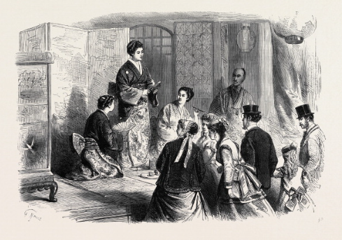 The Japanese Women in the Late Paris International Exhibition, France, 1867