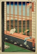 Utagawa Hiroshige, Asakusa Rice Field during the Cock Festival at Otori Shrine, 1857