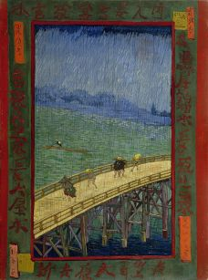 Vincent van Gogh, Brug in de regen - naar Hiroshige 1887