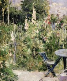 Berthe Morisot, Roses Trémiéres, 1880