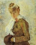 Berthe Morisot, Woman with a Muff, 1880