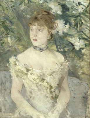Berthe Morisot, Young woman in ball dress, c1879