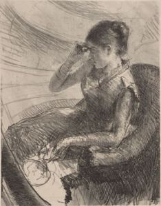 Mary Cassatt, Woman Seated in a Loge, c1881