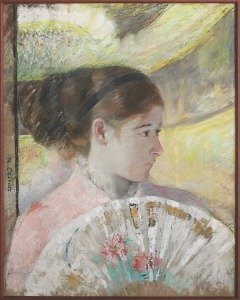 Mary Cassatt, Young Lady in a Loge Gazing to the Right, 1880