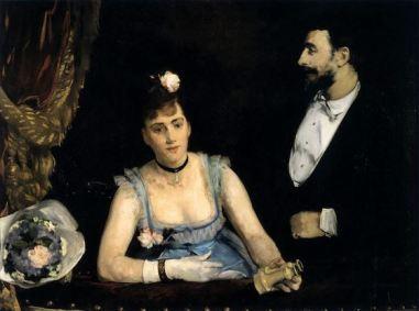 Eva Gonzalés, A Loge at the Theatre des Italians, 1874