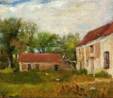 Eva Gonzalés, Farm at Rebais, c1871