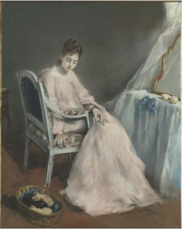 Eva Gonzalés, La Matinée Rose, 1874 (also known as The Nest)