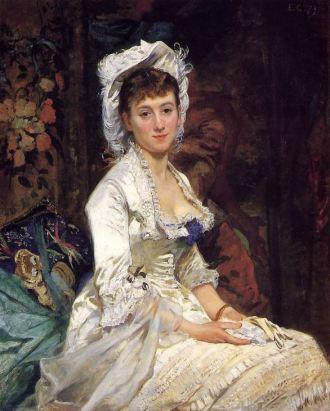Eva Gonzalés, Portrait of a Woman in White, 1879