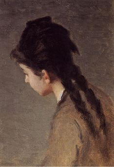 Eva Gonzalés, Portrait of Jeanne Gonzales in Profile