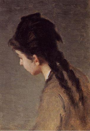 Eva Gonzalés, Portrait of Jeanne Gonzales in Profile