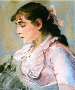 Eva Gonzalés, The Woman in Pink, c1865