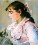 Eva Gonzalés, The Woman in Pink, c1865