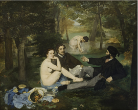 Edouard Manet, Le Déjeuner sur l'herbe, Luncheon on the Grass, 1863