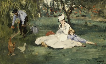 Edouard Manet, The Monet Family is their Garden at Argenteuil, 1874