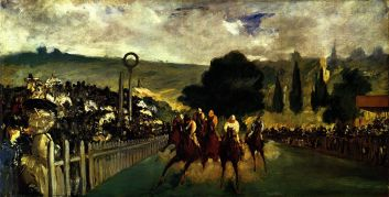 Edouard Manet, The Races at Longchamp, 1864