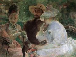 Marie Bracquemond, On the Terrace at Sévres with Fantin Latour, 1880