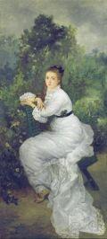 Marie Bracquemond, Woman in a garden, 1887