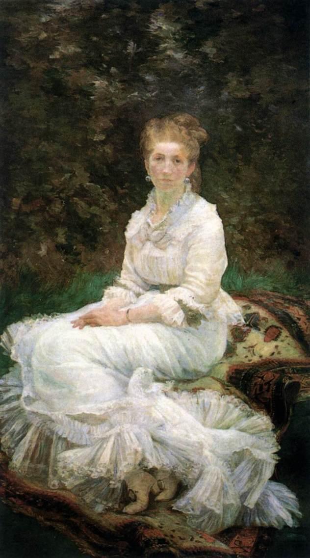 Marie Bracquemond, Woman in White, 1880
